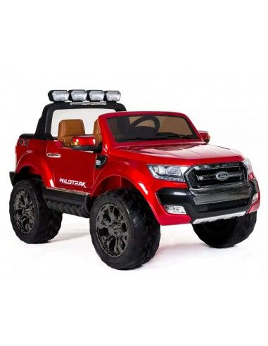 Carro a bateria Ford Ranger 2018 + Pantalla + 4 motores - Rojo