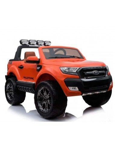 Carro a bateria Ford Ranger 2018 con pantalla - Naranja