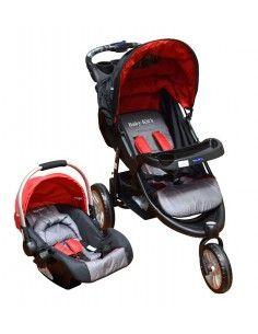 Coche travel system Baby kits Fox - Rojo