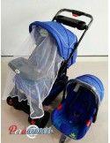 Coche cuna con Porta bebe Kingdom - Azul Jaspeado