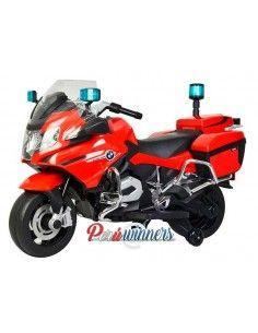 Moto a bateria Patrullero BMW Licenciada - Rojo