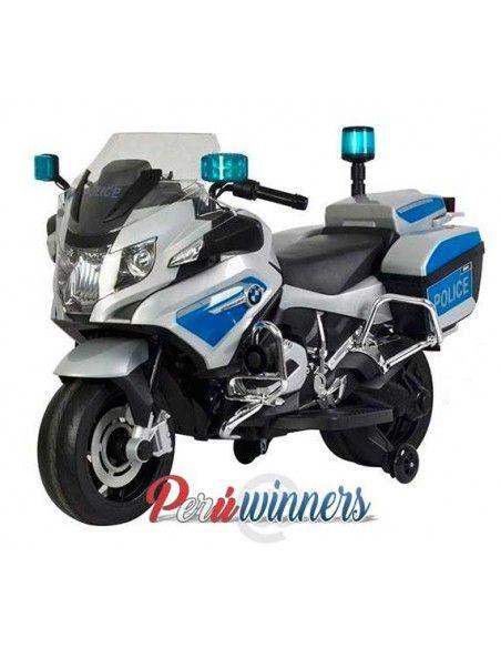 Moto a bateria Patrullero BMW Licenciada - Plomo