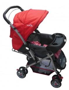 Coche cuna Baby King Bk202 - Rojo