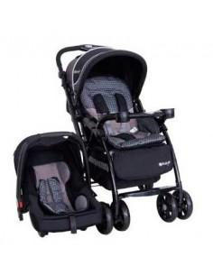 Coche cuna con porta bebe Ebaby Baviera - Negro