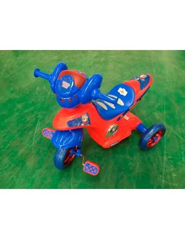 Triciclo modelo moto - Azul y rojo