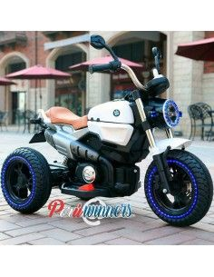 Moto a bateria Kingdom Harley Stylus - Blanco