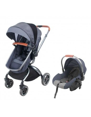 Coche cuna TRavel System Baby Kits F80 - Plomo