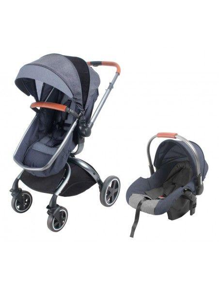 Coche cuna TRavel System Baby Kits F80 - Plomo