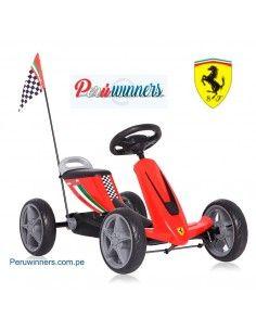 Chachi car Go kart Ferrari Licenciado - Rojo