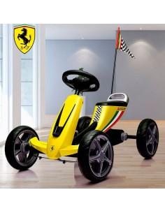 Chachi car Go kart Ferrari Licenciado - Amarillo