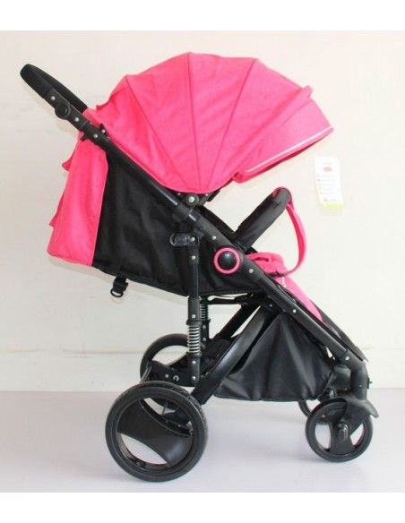 Coche con porta bebe Power Kids Pk58 - Rosado