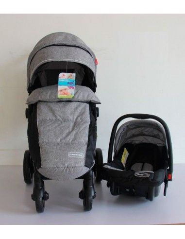 Coche con porta bebe Power Kids Pk58 - Plomo
