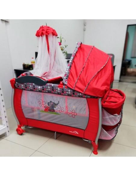 Cuna corral Baby King BK002 - Rojo