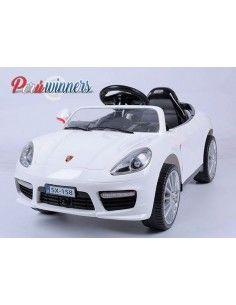 Carro a bateria Estilo Porsche - Blanco