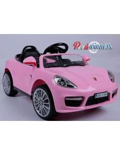 Carro a bateria Estilo Porsche - Rosado