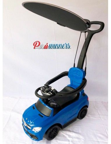 Correpasillos con guiador Mercedes Benz- azul