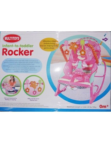 Silla Mecedora Rocker - Rosado