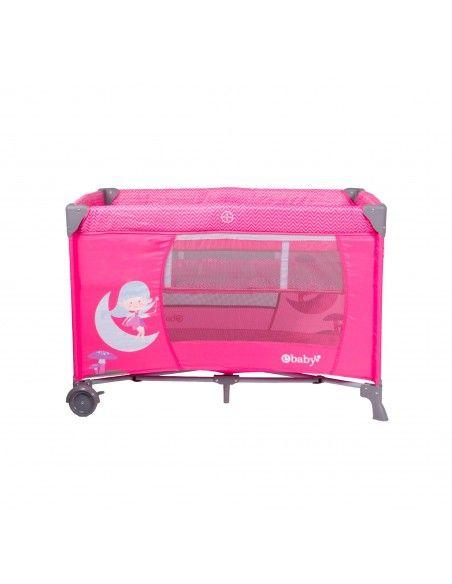 Cuna corral Ebaby Happy dream - rosado  - 1