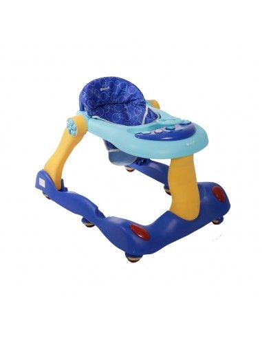 Andador caminador Ebaby Pikaboo - Azul