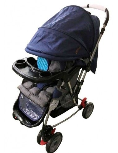 Coche cuna mecedora Baby Happy - Azul