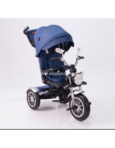 Triciclo modelo Harley Ebaby - Azul  - 1