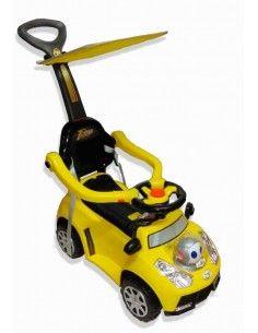 carro correpasillos 2 en 1 grande - amarillo