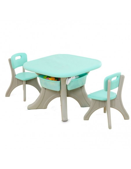 Mesa con 2 sillas Peruwinners - Verde  - 1
