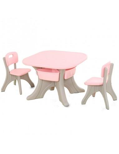 Mesa con 2 sillas Peruwinners - Rosado  - 1