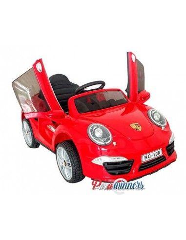 Carro a bateria Porsche 911 - rojo