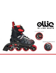 Patines Lineales Regulables Ollie - Rojo