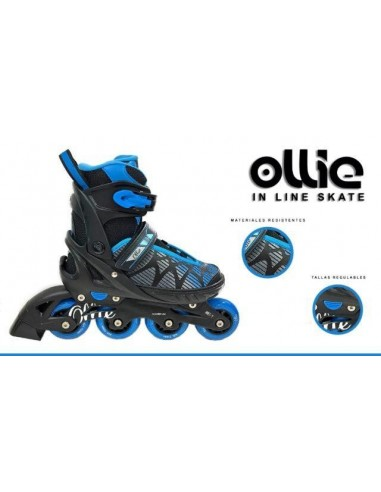 Patines Lineales Regulables Ollie - Azul