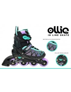 Patines Lineales regulables Ollie - Verde