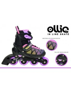 Patines Lineales Regulables Ollie - Fucsia