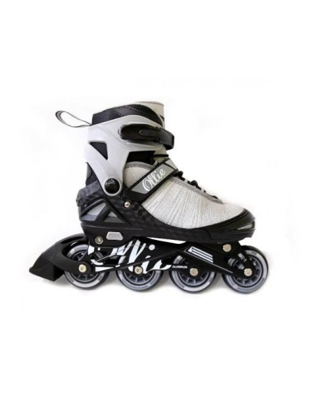 Patines Lineales regulables Ollie - Plomo