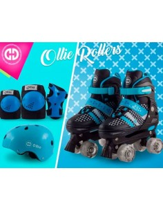 Patines Ollie regulables de 30 a 33 - Negro